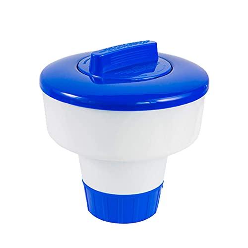 Flytise Dispenor de Flotador de Gran tamaño, dispenor de tabletas de Cloro para Piscina, SPA, Jacuzzi y Fuente, Piscinas inflables sobre el Suelo Dispensador Mini Flotador