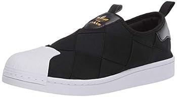 adidas Originals womens Superstar Slip on Sneaker Black/White/Gold Metallic 8.5 US