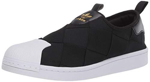 adidas Originals Superstar Slip on Scarpe da Ginnastica, Nero/Bianco, Nero (Nero Bianco Oro Metallizzato.), 34.5 EU
