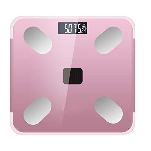 Cajolg Báscula de grasa corporal para peso corporal, diseño elegante y delgado para un fácil almacenamiento para medir peso, porcentaje de grasa corporal y agua corporal