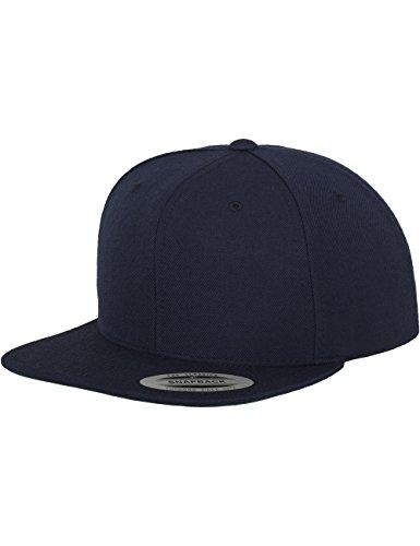Flexfit Classic Snapback Cap, Mütze Unisex Kappe für Damen und Herren, One Size, Farbe navy
