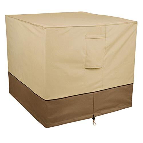AQzxdc Cubierta del acondicionador de Aire, Resistente al Agua Protección contra Todo Clima Veranda Universal Cubierta de la Unidad de CA de Invierno con ventilación de Malla,Round