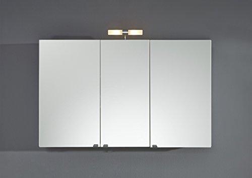 Großer Spiegelschrank mit einer Breite von 110cm in weiß