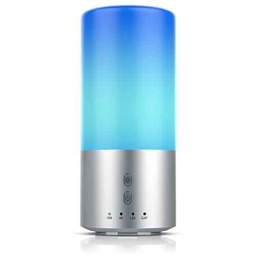 Arendo – Vaporizzatore e Diffusore di aromi + Lampada LED mod. Aroma diffuser - Tecnologia a ultrasuoni - Funzione Timer (60min 120min 360min) - Colore luce LED a scelta e casuale