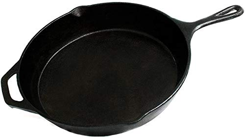 FS Kitchen Pre-Seasoned Cast Iron Cookware Pan, 12.5-Inch