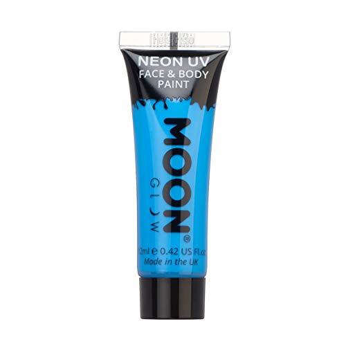 Moon Glow – Peinture fluo UV intense bleu visage & corps 12 ml.
