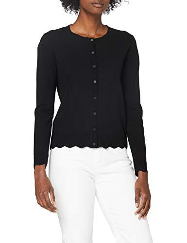 Sisley Women's L/S Cardigan Sweater, Nero 100, S