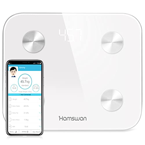 Digital Scales for Body Weight, Bluetooth Bathroom Scale for Smart Body Composition Analyzer BMI Scales Body Fat Monitor with Smartphone APP, 400lb, Support 10 Users, Fitness Health Scale