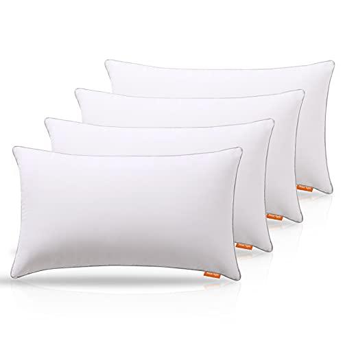 Sweetnight Kopfkissen für Nackenschmerzen, 100 % Baumwolle, Anti-Schnarchen & Anti-Allergie, weiche Kissen in Hotelqualität, für Rücken Bauch und Seitenschläfer (4 Stück, 48 x 74 cm)