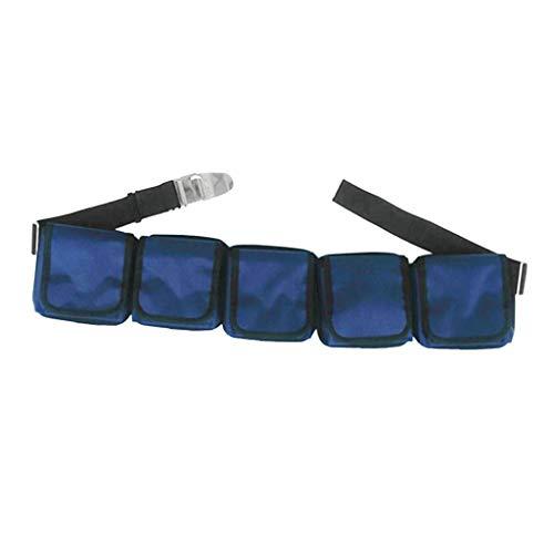 Tubayia Abnehmbarer Tauchgürtel Taschenbleigurt Gewicht Gürtel für Tauchen Schnorcheln (3 Pocket)