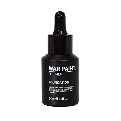 War Paint Foundation für Männer (Mittel) – erhältlich in 5 Schattierungen – hochwertige vegane Inhaltsstoffe, tierversuchsfreies Make-up – voll abdeckende hochwertige Make-up-Produkte für Männer