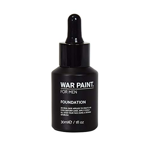 War Paint Foundation für Männer (hell) – erhältlich in 5 Schattierungen – hochwertige vegane Inhaltsstoffe, tierversuchsfreies Make-up – voll abdeckende hochwertige Make-up-Produkte für Männer