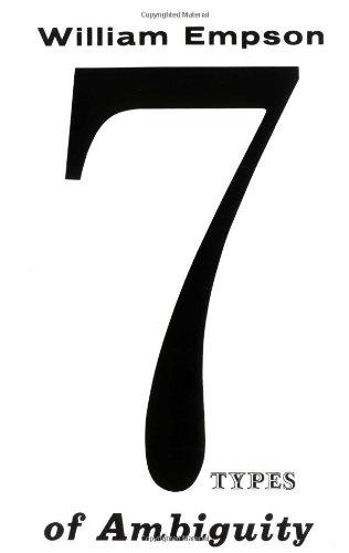 Seven Types Ambiguity William Empson