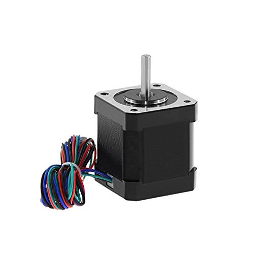 XINYE wuxinye 1Pcs Nema 17 Stepper Motor 48Mm Nema17 Motor 42Bygh 2A 4-Lead (17Hs8401) Motor 1M Cable Fit For 3D Printer Cnc Xyz Motor (Color : Black)