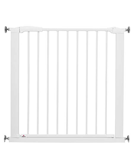 BabyDan Swing Shut Wide Safety Baby gate, Width 77.3 - 83.5cm, white, Made in Denmark