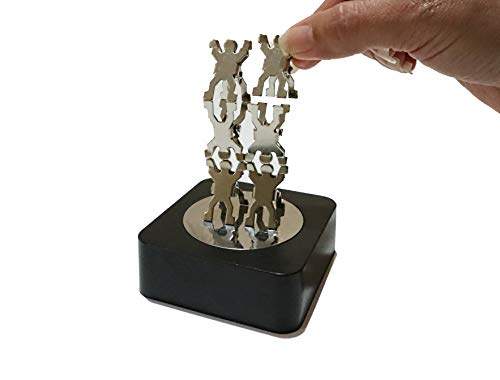 Aryellys Magnetic Sculpture, Paper Clip Builder Magnetic Toys with Mirror Base, Magnetic Desk Toys, Magnet Toys for Adults, Stress Relief Toys Desk Gadgets