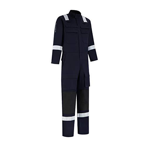 Dapro Rope Access Multinorm Overall - Größe 58 - Marineblau - Flammschutz, antistatisch, Schweißnorm, Lichtbogen und chemikalienbeständig