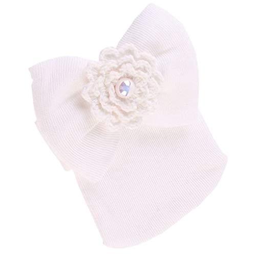 shunbang yuan Encantadora Infantil del algodón del bebé Sombreros Lindos de mayúsculas de Bowtie recién Nacidos Niños Niñas Invierno Caliente Mini Cap Skullies Gorros