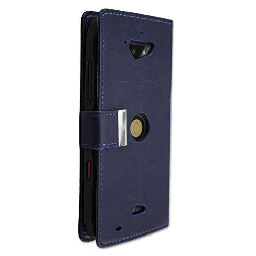 caseroxx Handy Hülle Tasche kompatibel mit Crosscall Action-X3 Bookstyle-Hülle Wallet Hülle in blau