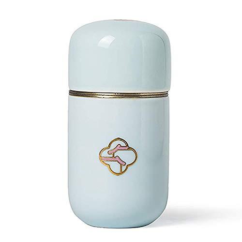 Tanque de Almacenamiento Sellado Portátil juego té Caja de té elegante de cerámica tarro pequeño tanque de almacenaje de contenedores de porcelana de la vendimia, con la tapa del patrón de flor, la co