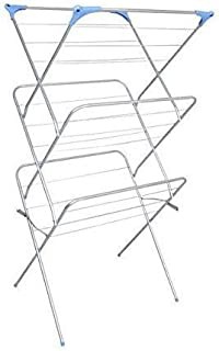 Peng Essentials Airer Cloth Drying Stand Foldable Drying Racks Rust Proof - Cloth Drying Stand (Grey), Stainless Steel
