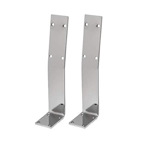 HOLZWERK24 Rücklehne BRL 106 Stahl silber-chrome Bankrückenlehne Banklehne Halterung Profil für Bänke, Betten & Stühlen