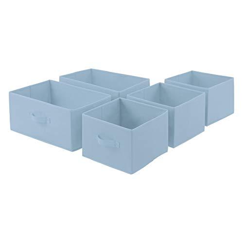 AmazonBasics Cajones de repuesto para unidad de almacenamiento de tela con 3 cajones, azul grisáceo