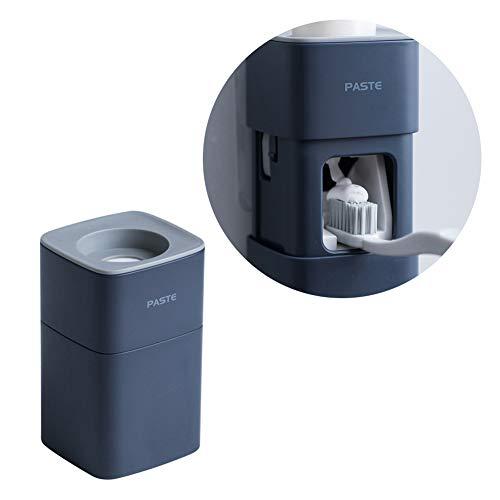 YUIP Automatico Dispenser di Dentifricio,Dispenser di Dentifricio,Spremi Dentifricio Automatico,Dispenser di Dentifricio a Parete per Bagno,Blu Scuro