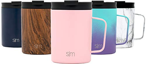Simple Modern Scout 350 mL Termo Taza de Café - Vaso Termico de Viaje Termica para Llevar Acero Inoxidable Botella de Agua -Sonrojo