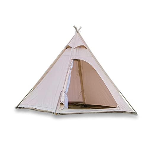 WSGYX Tenda in Cotone Indiano di Lusso di Alto Grado 3-4 Persone Palo d'Acciaio Pole da Esterno in Tessuto di Cotone Tenda 220x220xh200cm (Color : 1)