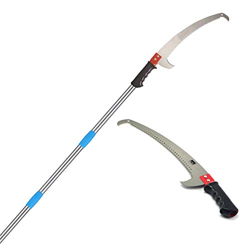 MIYA Pole Saw - High Reach Pole Pruner with 7.5ft Lightweight Stainless...