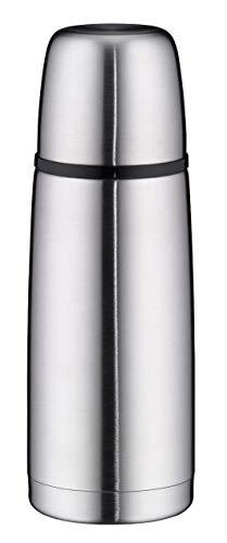 alfi Thermosflasche Edelstahl mattiert 350ml, isoTherm Perfect, Isolierflasche mit Trinkbecher, 5107.205.035 spülmaschinenfest, Drehverschluss, dicht, Thermoskanne 12 Stunden heiß, 24 Stunden kalt
