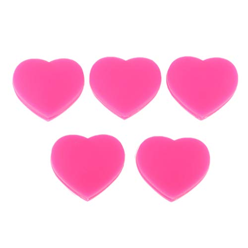B Blesiya 5er Set Herz Tennis Dämpfer Vibrationsdämpfer Tennisschläger Schwingungsdämpfer - Rosa