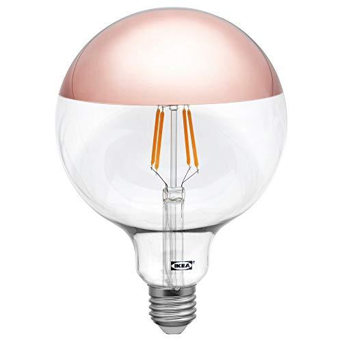 IKEA Sillbo LED-Leuchtmittel, 370 Lumen, 125 mm, E27, mit verspiegelter Oberseite, Rotgold