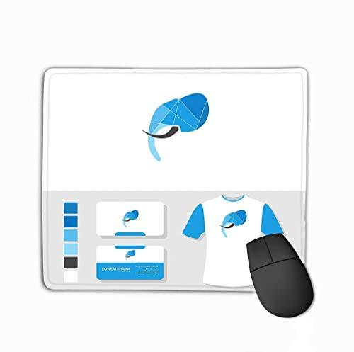 Rutschfeste Gummi Mousepad Gaming Mauspad Elefant Logo Design Visitenkarte Modell Elefant Logo Visitenkarte Modell