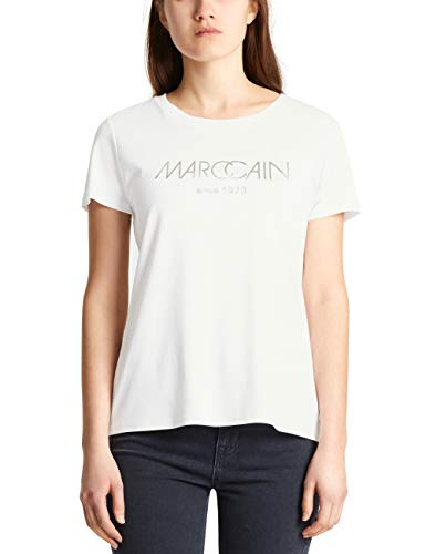 Marc Cain Collections T-Shirts T-Shirt, Bianco (off-White 110), 42 (Taglia Produttore: 2) Donna