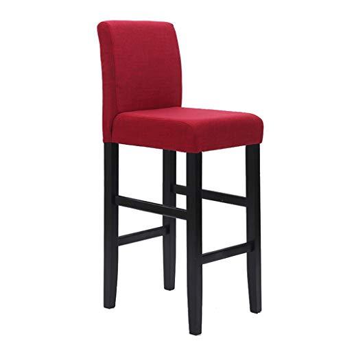 Tuqia meubels massief houten bar stoel, bar stoel creatieve hoge stoel rugleuning stoel huishouden vrije tijd hocker 42 * 42 * 110 cm woonkamermeubels stoelen