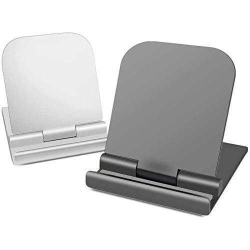 Tenedor de teléfono móvil 2 soporte para teléfonos móviles, adecuado para escritorio, soporte de tableta plegable de lámpara, escritorio