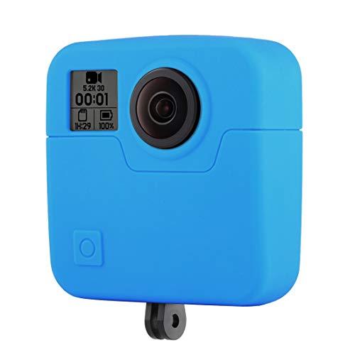 BOYUHII Sport Caméra Camera Case de Protection for GoPro Fusion Protection en Silicone (Noir) ATCYE (Color : Blue)