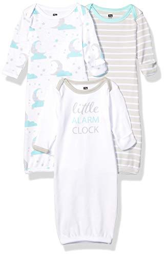 Hudson Baby Unisex Cotton Gowns, Alarm Clock, 0-6 Months