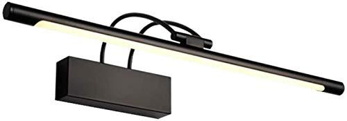 Mirror koplamp LED Nordic Zwarte Spiegel van de Badkamers van de Muur Light WC Mirror Cabinet Light, 180 graden draaien, Maat: 75cm, Kleur: Koud Wit (Color : Warm White, Size : 45cm)