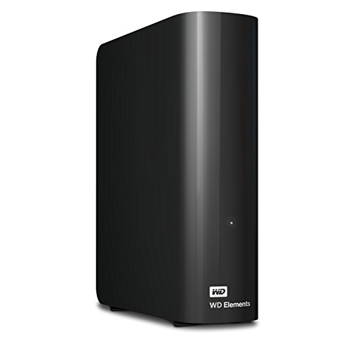 WD 12TB Elements Desktop Hard Drive, USB 3.0 - WDBWLG0120HBK-NESN,Black