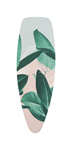 Brabantia -  Funda para tabla de planchar D 135 x 45 cm, juego completo, color Tropical Leaves