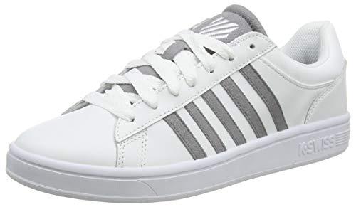 K-Swiss Herren Court Winston Sneaker, Weiß (White/Stingray 181), 42.5 EU