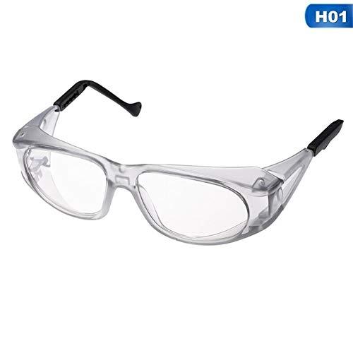 UV 400 Schutz Schutzbrille Schutzbrille Anti Fog Anti-Schock-beständiges Objektiv für den BAU Laborchemie Persönlicher Gebrauch (Color : H01)