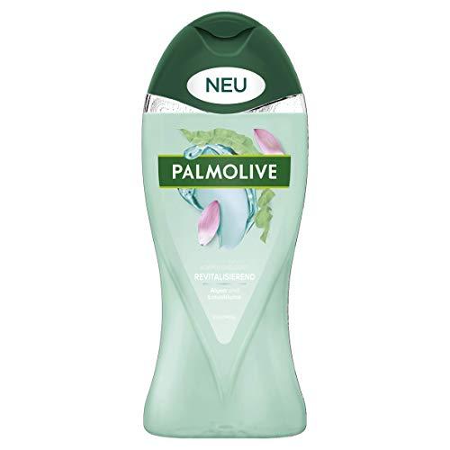 Palmolive Duschgel Revitalisierend, 1 x 250 ml - Verwöhnendes Duschgel mit Algen und Lotusblume für sanft weiche Haut, geeignet für jeden Hauttyp