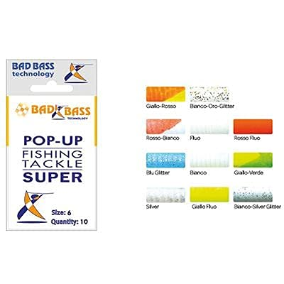 Bad Bass D3200444, Pop Up Super Unisex Adulto, Rosso Fluo, 4 mm