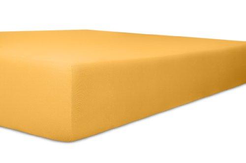 Kneer Spannbettlaken, Spannbetttuch, Fein-Jersey Qualität 50 Verschiedene Größen und Farben 180 x 200-200 x 200 cm gelb