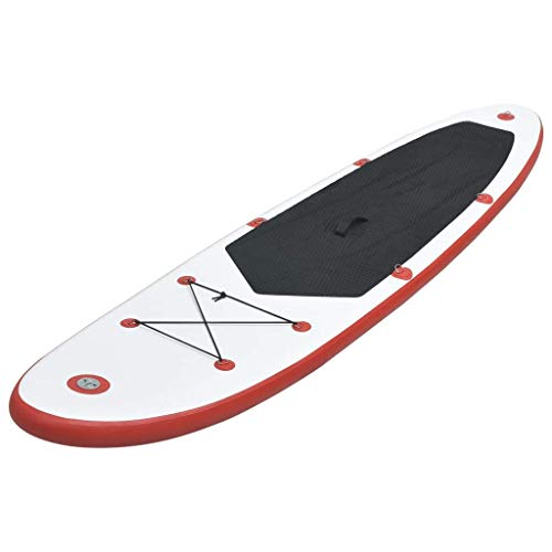 MXA Stand Up Paddle Board Set Sup Tabla de Surf Inflable Rojo