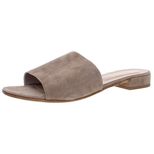 Bella Vita Women's TES-Italy Slide Sandal Shoe, Taupe Italian Suede Leather, 7 M US